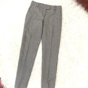 Oscar de la renta checkered wool pants